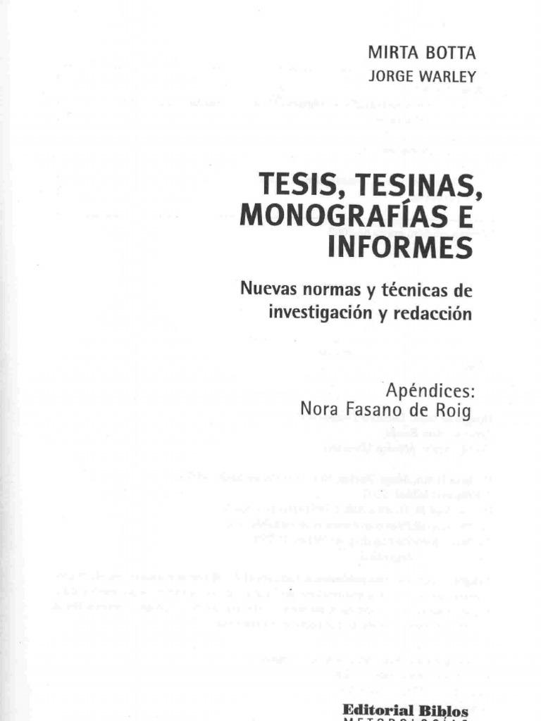 mirta botta tesis monografias e informes