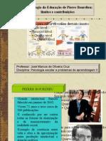Apresentação - A  SOCIOLOGIA DA EDUCAÇÃO DE PIERRE BOURDIEU