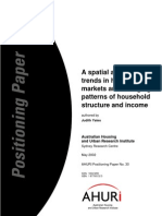 AHURI Positioning Paper No30 a Spatial Analysis of Trends in Housing Markets and Changing Patterns of Household