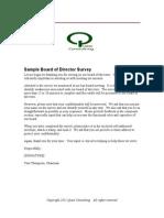 Sample Board of Director Survey