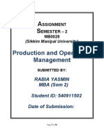 MB0028 Production & Operations Management -Set 1