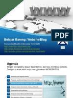 Belajar Bareng Wordpress Blog