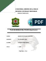 Plan de Manejo Del Picuro (Agouti Paca)