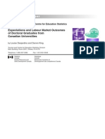 Expectations and Labour Market Outcomes of Doctoral Graduates From Canadian Universities[1]
