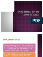 Evolution of Ssi Units in India