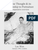 Chinese Thought And Its Relationship to Portraiture