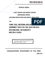 Fuel Metering Pump Maint and Repair TM9-2910-226-34