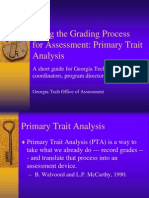 Using the Grading Process for Assessment