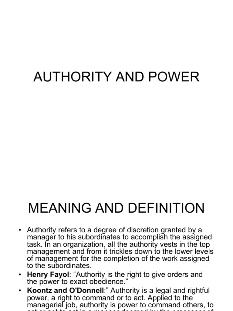 What is authority: definition, meaning 74