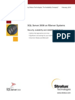 SQL Server 2008 on FtServer Systems