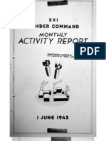 XXI Bomber Command, Monthy Activity Report 1 June 1945