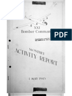 XXI Bomber Command, Monthy Activity Report 1 May 1945