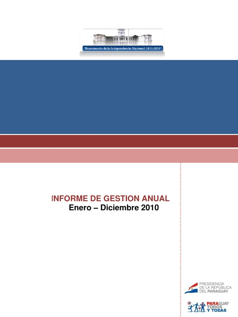 Informe de Gestion Anual Enero a Diciembre 2010 - PortalGuarani