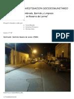 Proyecto de Investigacion Sociocomunitario - Rosario de Lerma_Salta
