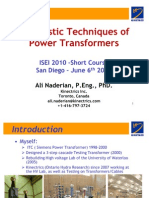 ISEI 2010-Diagnostics Techniques of Power Transformers
