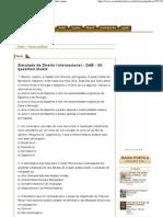 Simulado de Direito Internacional - OAB - 50 questões atuais