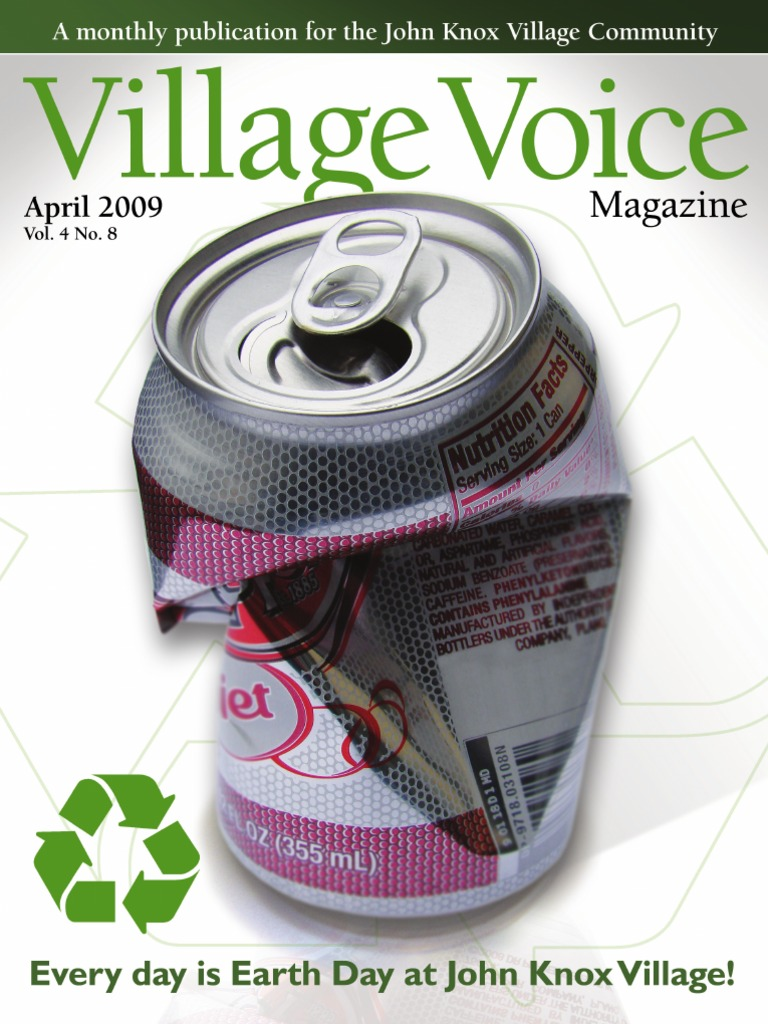 April09 Village Voice Magazine Recycling Sustainability Designed By John Broskie Made In Usa