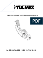 Instructivo Doblacon Tecnicas de Doblado de Tubo Conduit