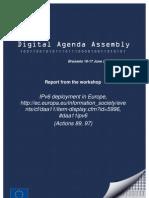 IPv6 Deployment in Europe - Digital Agenda Assembly Workshop Report
