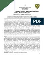 Caracterizacion y Concentracion de Muestras de Aremas