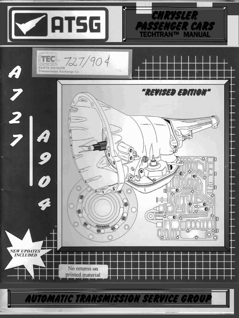 a727 - A904 Techtran Manual   Automatic Transmission