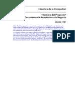 Documento de Arquitectura de Negocio