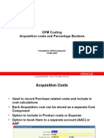 Acquisition Cost and Percentage Burdens