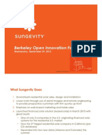 Open Innovation Forum - Sungevity
