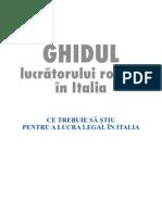 Ghidul Lucratorului Roman in Italia