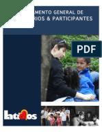 Reglamento General de Voluntarios y Participantes.