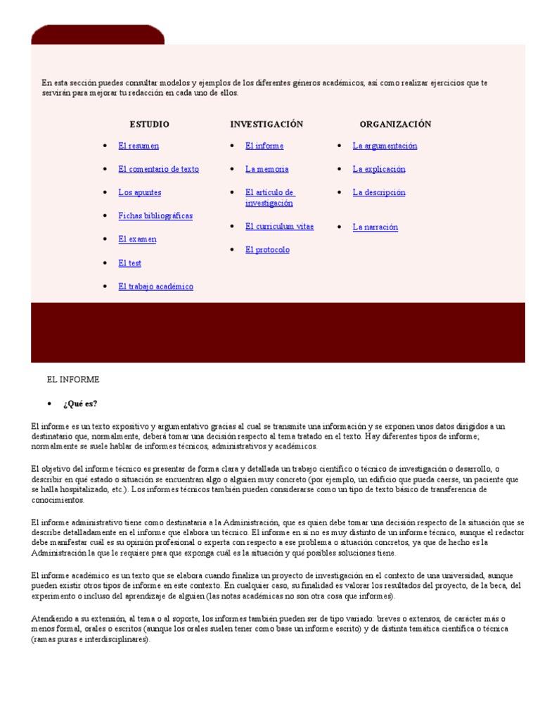 Tipos de Textos-Informe y Curriculum