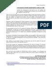 Declaration Publique concernant les mouvements sociaux au Chili