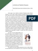 Percursos literários da I República Portuguesa