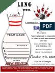 AHA Bowling Registration Form October Form
