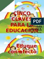 CINCO CLAVES PARA LA EDUCACIÓN DE LOS NIÑOS