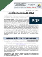 Informe de 4 de agosto de 2011 do Comando Nacional de Greve