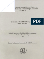 The Research on Training Methodologies for AIDS Education and Counselling in Thailand (Phrase I)