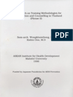 The Research on Training Methodologies for AIDS Education and Counselling in Thailand (Phrase II)