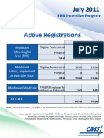2011 July EHR Monthly Report