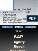 Share Point 2010 and SAP Integration