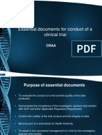 Essentail Documents for Conduct of a Clinical Trial