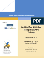 The Sexual Recovery Institute and IITAP Certified Sex Addiction Therapist Training Manual Training Manual-Sept 7-11