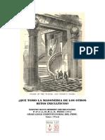 Herbert Ore - Que Tomo La Masoneria de Los Otros Ritos Iniciaticos