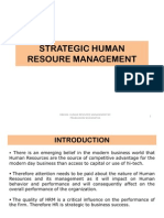 STRATEGIC HUMAN RESOURE MANAGEMENT