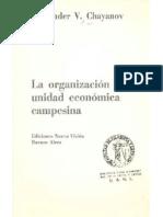 La organización de la unidad económica campesina