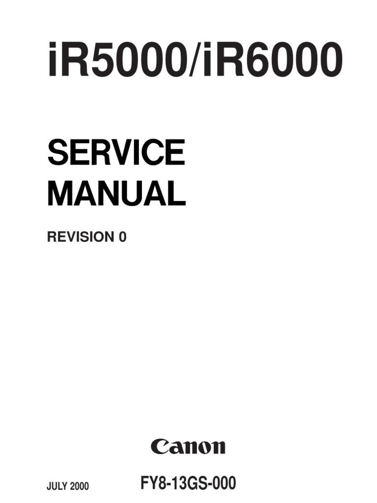 canon ir5000 6000 service manual printed circuit board signal