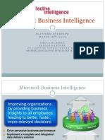 Microsoft Business Intelligence - Platform Overview