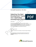 Selecting the Best Development Technology for Your Application Development Scenario AX2012