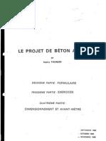 Le projet de béton armé - Thonier