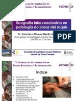Ecografía intervencionista en patología dolorosa del raquis ver larga